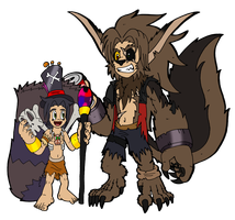 The Witchdoctor and the Werewolf by Chibi-Tediz