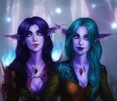 Night Elves by DancinFox