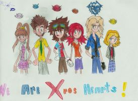 We Are XROS HEARTS / Fusion Fighters!! X7 by digiphantom1994