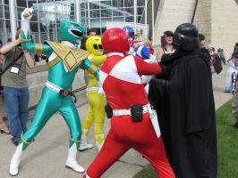Power Rangers vs Darth Vader by TheAzntirong