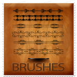 Calligraphic Border Brushes by M10tje