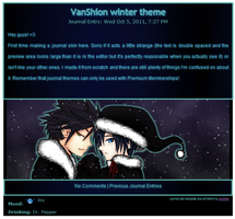 journal skin: VanShion Winter by ssceles