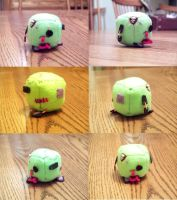 Zombie Cube Plushie by JeffSproul