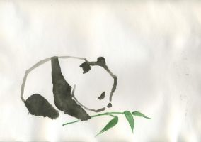 Panda - Watercolor by charlie-cha