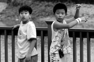 Shaolin Kungfu children by nathanieltan