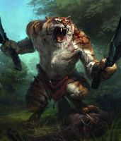 tiger warrior by Hightech2