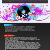 Dj Chris website template by SoSpian