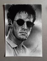 Sylvester Stallone drawing by Lea by Cleicha