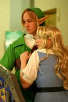 Link and Zelda by Forcebewitya