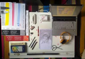 my equipment. the drawing kind by lloveandsqualor