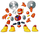 HD Metal Man Sprite Sheet Parts by JusteDesserts