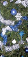 Blue Tree Ornaments 3 by dkimber