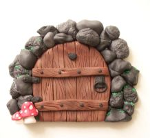 2nd Stone Arch Fairy Door by FlyingFrogCreations