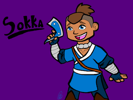 Day 14 - Sokka by uhnevermind