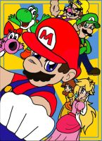 Mario: The Team by MagicMikki