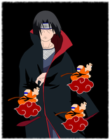 Itachi and Goku by rabbidravi