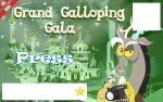 Galacon Ticket art: Press by Rautakoura