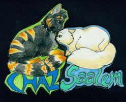 badgetrade: Chaz and Saalem by shelzie