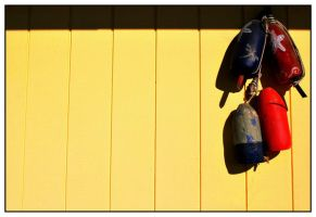 Painted Buoys by Beerends