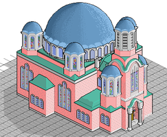 Isometric Orthodox Church by YankoPopov