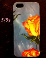 iPhone 5/5s rose case by maria12256