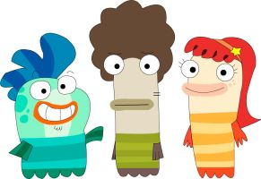Fish Hooks cast from Fish Hooks by hrdeviantart