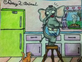 Drawing Challenge, day two by GloomRubyTuesday