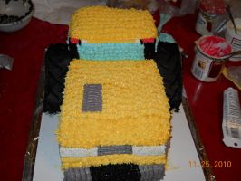 Cat Challenger Cake Front view by MysteriousFoxThief