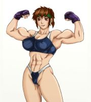 Akiko ready for the gym by MarianGTS