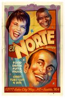 El Norte restaurant poster by gaborart