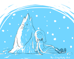 Ice King snowman and me by Snowflake-owl