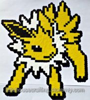 Jolteon Perler by LittleHouseCrafting