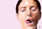 iPad finger painting: Monica Bellucci by chaseroflight