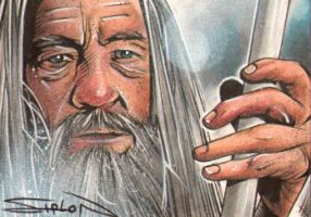 Gandalf Sketch Card by RandySiplon