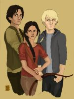 HG: Katniss, Gale and Peeta by Bleunite