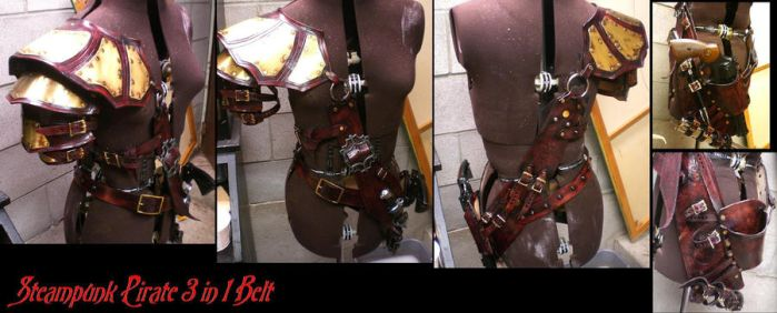 Steam Pirate 3in1 belt by Skinz-N-Hydez