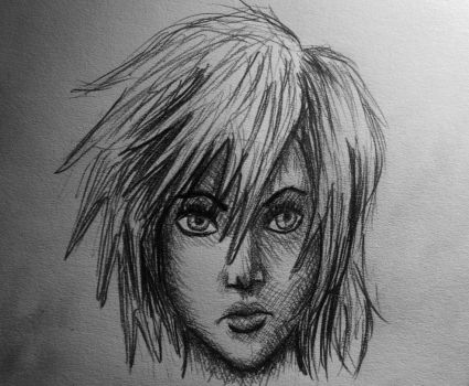 Lightning Farron Pencil Drawing by AxelFlame8
