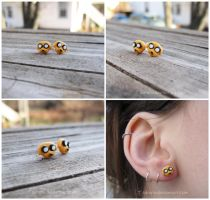 Adventure Time Jake Earrings - Fanart Cosplay by Tsurera