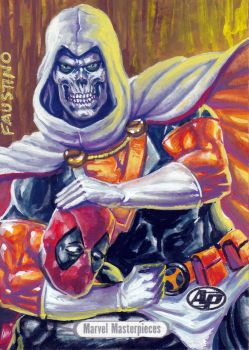 Marvel Masterpieces Taskmaster commission by humawinghangin