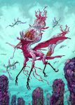 Creature from an aircoral reef by korintic