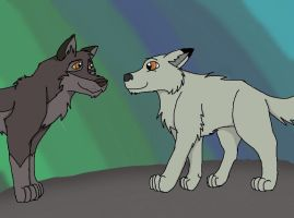 Ember meets balto trade pic #2 by Ember-Flame007