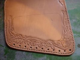 Leather Cheek-Pad - WIP05 by Bear-Crafter