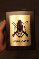Halo Legendary 1st Place plaque (finished product) by DraconicParagon