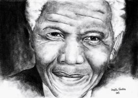 Nelson Mandela 1918 - 2013 by chizzel