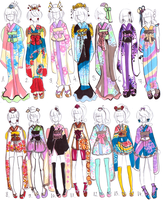 Kimono designs -CLOSED- by Guppie-Adopts