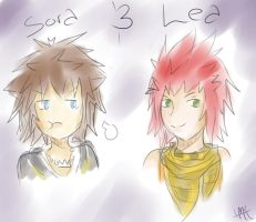 Doodle Doodle Doodle~ Sora and Lea by kankrivanbooty