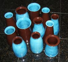 Vase Collection 3 by StarCreekPottery