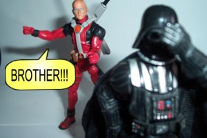 Deadpool and Vader by Hext