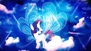 Wallpaper Lovely Rarity with wings by Barrfind