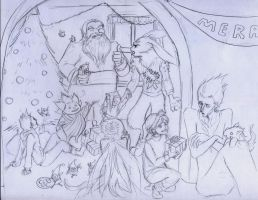 Xmas Party Sketch by Hahli1994
